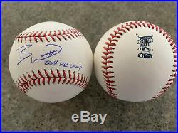 Bobby Witt Jr Signed Baseball Autographed 2018 Home Run Derby K C Royals COA