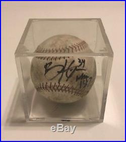 Bryce Harper Signed Home Run Derby Baseball Autographed Nationals Display COA