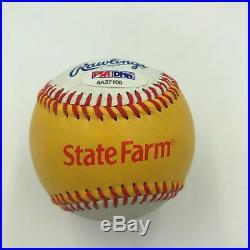 Cal Ripken Jr. Signed 2009 All Star Game Home Run Derby Gold Baseball PSA DNA