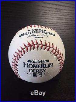 Carlos Beltran 2012 MLB Home Run Derby GAME USED BALL! Rd 2, Out 4