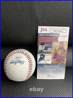 Corey seager signed 2016 home run derby logo baseball autograph jsa coa Dodgers