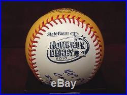 DAVID ORTIZ SIGNED 2010 HOME RUN DERBY BALL RARE 1/1 9 INSCRIPTIONS WithPSA COA
