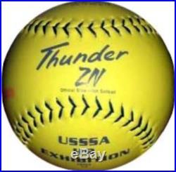 Dudley USSSA Thunder ZN. 47/450 Home Run Derby 4U-548Y Dozen Softballs