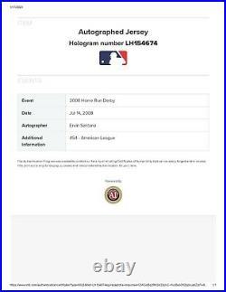 ERVIN SANTANA Game Issued 2008 Home Run Derby Jersey YANKEE STADIUM Angels MLB