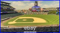 Four (4) Mlb 2021 All-star Week Game Strips Home Run Derby Coors Club LVL Denver