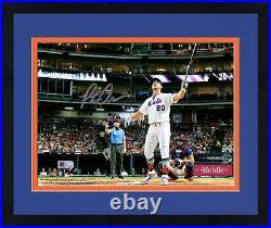 Frmd Pete Alonso Mets Signed 8 x 10 2019 MLB Home Run Derby Bat Flip Photo