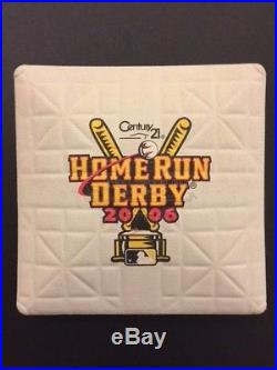 Game Used 2006 Home Run Derby Base MLB Authenticated