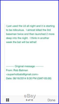 HOT! NIW (Shaved) Demarini The One ASA/USSSA Home Run Derby Bat