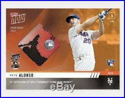 HOT PETE ALONSO RC 2019 Topps NOW Home Run Derby Sock Relic /5 ROY