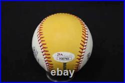 Hank Aaron Signed 2009 Home Run Derby Omlb Baseball Autograph Jsa Loa Jb1920