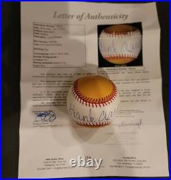 Hank Aaron Signed 2011 Omlb Home Run Derby Baseball Autograph Jsa Loa