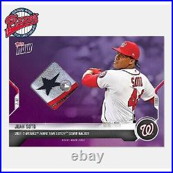 Home Run Derby Sock Relic # to 25 Juan Soto 2021 MLB TOPPS NOW Presale