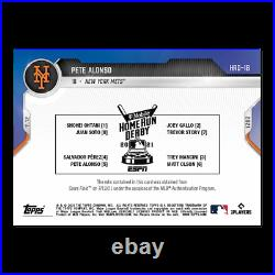 Home Run Derby Sock Relic # to 25 Pete Alonso 2021 MLB TOPPS NOW