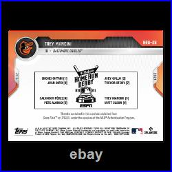 Home Run Derby Sock Relic # to 25 Trey Mancini 2021 MLB TOPPS NOW