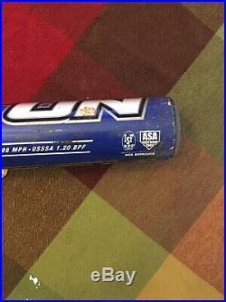 Homerun derby bat easton scn8 flex 34 26 asa shaved and rolled