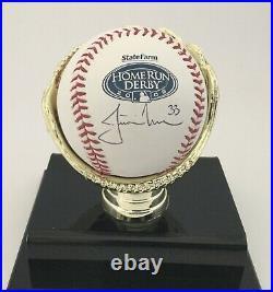 JUSTIN MORNEAU autographed 2008 Home Run Derby Baseball signed Minnesota Twins