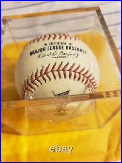 Javier Baez All Star Home Run Derby Event Used Ball MLB JD 549646