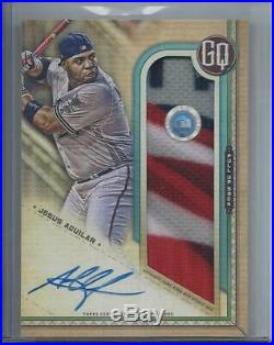 Jesus Aguilar 2019 Gypsy Queen Mlb Stance Sock Home Run Derby Patch Auto #d 6/10