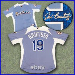 Jose Bautista Toronto Blue Jays Autographed 2012 AL Home Run Derby Jersey