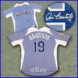 Jose Bautista Toronto Blue Jays Autographed 2012 AL Home Run Derby Jersey-AJ COA