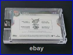 Juan Soto HOME RUN DERBY Game Sock HR Relic 2021 TOPPS NOW GOLD # 1/1 All Star