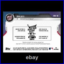 Juan Soto HOME RUN DERBY Game Used Sock HR Relic 2021 TOPPS NOW #'d 25 Parallel