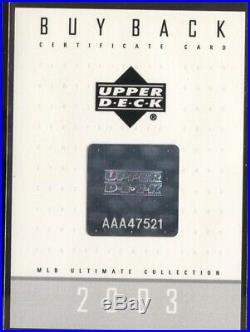 Ken Griffey Jr. 2003 Ud Ultimate Home Run Derby Buyback Auto /50 Mariners