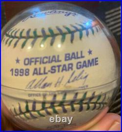 Ken Griffey Jr Autographed 1998 All Star Baseball Home Run Derby Champ