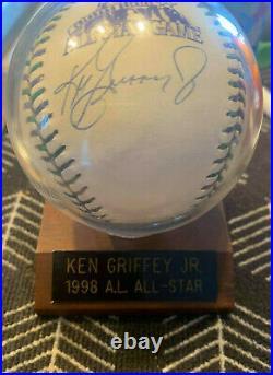 Ken Griffey Jr Autographed 1998 All Star Baseball Home Run Derby Champ 300 PRINT