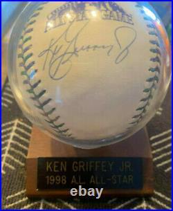 Ken Griffey Jr Autographed 1998 All Star Baseball Home Run Derby Champ ENDS SOON
