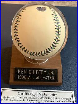 Ken Griffey Jr Autographed 1998 All Star Baseball Home Run Derby Champ With COA