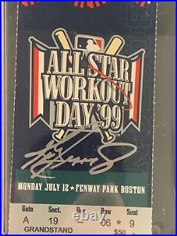 Ken Griffey Jr Signed 1999 All Star Game Home Run Derby Full Ticket PSA 9/10