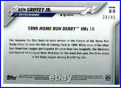 Ken Griffey Jr. Topps Chrome 2020 Sapphire Green U-9 /45 1999 Home Run Derby