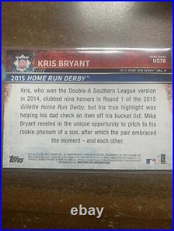Kris Bryant RC /2015 Topps Update Gold Gillette Home Run Derby Variation