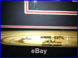 Lance Berkman 2004 Home Run Derby Game Used Bat in Shadowbox Custom Framed