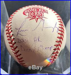 Luis Gonzalez Signed OMLB Autograph GAME USED 2001 Home Run Derby Champ MLB COA