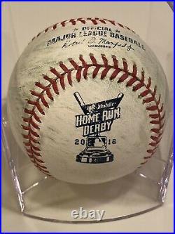 MLB Authenticated Giancarlo Stanton Home Run Derby Semi-Finals vs. Trumbo Ball