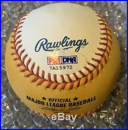Magic Johnson Signed 2010 Home Run Derby Baseball Auto Psa/dna Coa