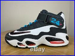 Men's Nike Air Griffey Jr Max 1 Home Run Derby White Black Size 9 354912-100