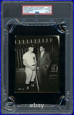 Mickey Mantle 1959 Home Run Derby Type 1 Original Photo PSA/DNA Crystal Clear