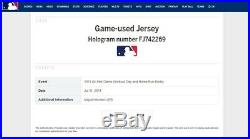 Miguel Montero 2011 All-Star Game Home Run Derby Game Worn Used Jersey MLB Auth