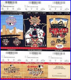 Mike Trout Signed 2014 All-Star Game / Home Run Derby Ticket 2014 AS MVP PSA