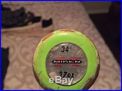 Miken Freak 34/27 ASA Slowpitch Softball Bat Home Run Derby Rolled Shaved