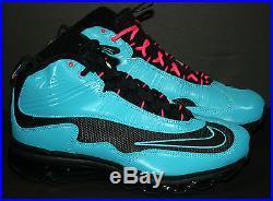 Nike Air Max Jr Home Run Derby Men's 9 New Black Turquoise Ken Griffey Baseball
