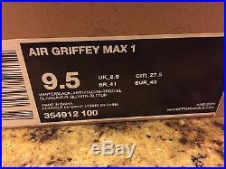 New Mens Nike Air Griffey Max 1 Home Run Derby 354912-100 Shoes Sz 9.5 2012 $140