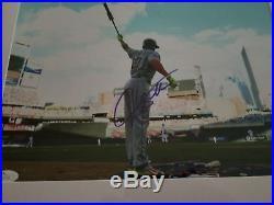 New York Yankees Giancarlo mike Stanton auto home run derby photo JSA Rare
