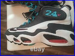 Nike Air Griffey Max 1 Home Run Derby Turquoise Grey Mens Size 9.5 (354912-100)
