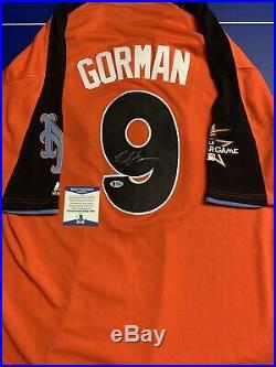 Nolan Gorman Signed Jersey Beckett COA St Louis Cardinals 2017 Home Run Derby L