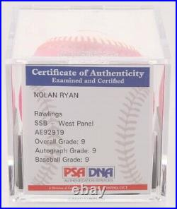 Nolan Ryan Signed 2017 Home Run Derby OML Baseball. Inscribed. PSA Graded