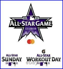 One (1) Mlb 2021 All-star Week Game Strip Home Run Derby Celebrity Stars Denver